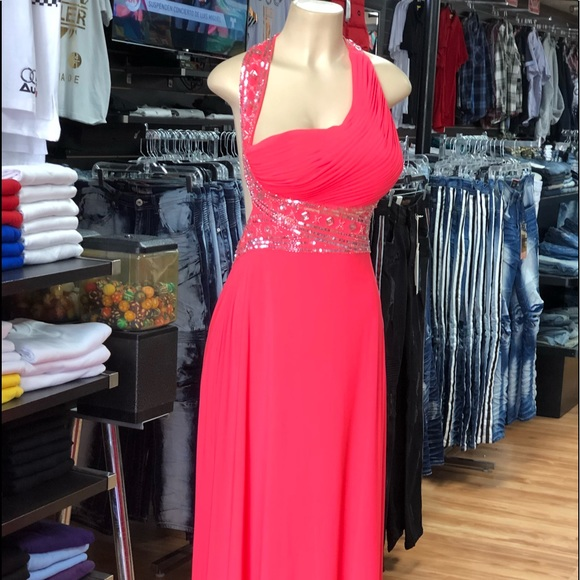 Lord & Taylor Dresses | Ball Room Hot Pink Gown Dress | Poshmark